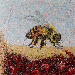 Painting: Bee and Dessert. Artist: Michael Glass