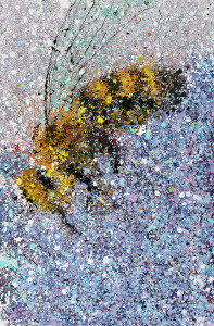 Painting: Bee and Violet. Artist: Michael Glass