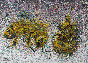 Painting: Loss of a Honey Bee. Artist: Michael Glass