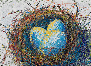 Painting: Nest Number One. Artist: Michael Glass