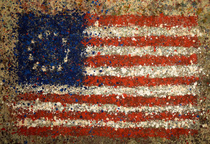 Painting: Betsy Ross Number One. Artist: Michael Glass