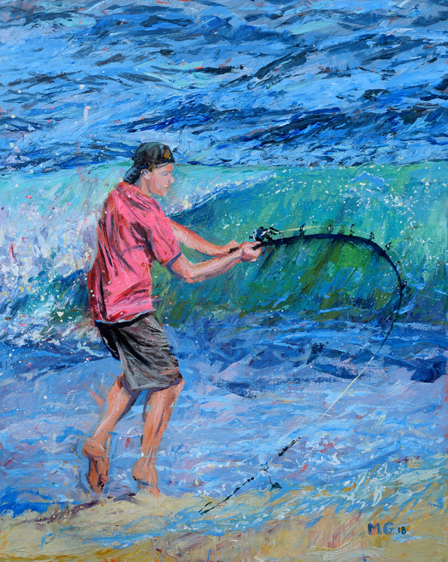 This fisherman of Kure Beach. Artist: Michael Glass